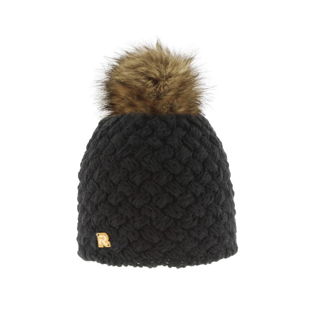 Шапка женская. ICE 81378137Теплая вязаная шапка R.Mountain идеальна для зимних холодов. Шапка крупной вязки выполнена из мягкой акриловой пряжи с добавлением шерсти, что позволяет ей великолепно сохранять тепло и обеспечивает высокую эластичность, и удобную посадку. Изнутри предусмотрена мягкая плюшевая подкладка. Шапка оформлена фактурной вязкой и дополнена пушистым помпоном из натурального меха. Изделие украшено небольшим декоративным элементом в виде логотипа бренда. Такая шапка станет модным и стильным дополнением вашего зимнего гардероба, а приятный на ощупь материал подарит ощущение тепла и комфорта.