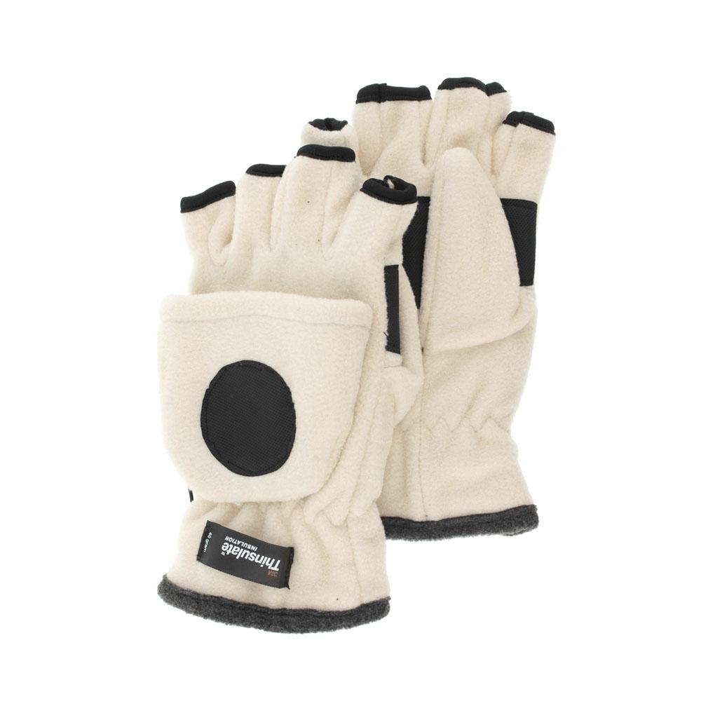 Перчатки-варежки женские. 36223622Женские флисовые перчатки-варежки R.Mountain не только защитят ваши руки, но и станут великолепным украшением. Изделие представляет собой перчатки без пальцев, к внешней стороне которых крепится капюшон, накинув его на пальцы, перчатки превращаются в варежки. Капюшон фиксируется на перчатке при помощи липучки. Специальная резинка на пульсе не допустит попадания снега и надёжно удержит перчатки на руке.