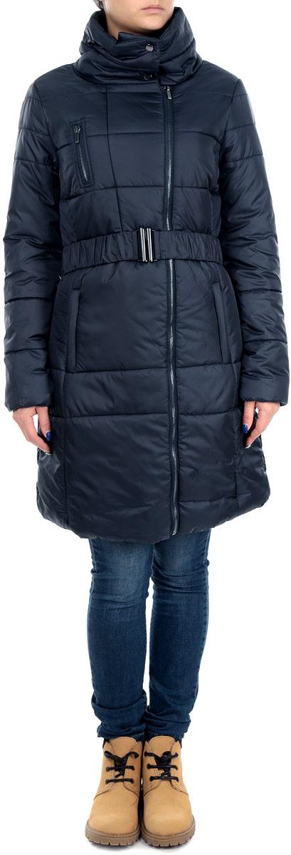 Куртка женскеая. TKU0245GRTKU0245GRСтильная женская куртка Troll отлично подойдет для прохладной погоды. Модель приталенного силуэта с воротником-стойкой и длинными рукавами застегивается на застежку-молнию по всей длине и на металлические кнопки на воротнике. Спереди куртка дополнена тремя втачными карманами на молнии. Манжеты изделия дополнены вчитой эластичной резинкой, препятствующей проникновению холодного воздуха. Приталенный силуэт дополнительно подчеркнут эластичным пояском с металлической пряжкой. Эта модная куртка послужит отличным дополнением к вашему гардеробу.