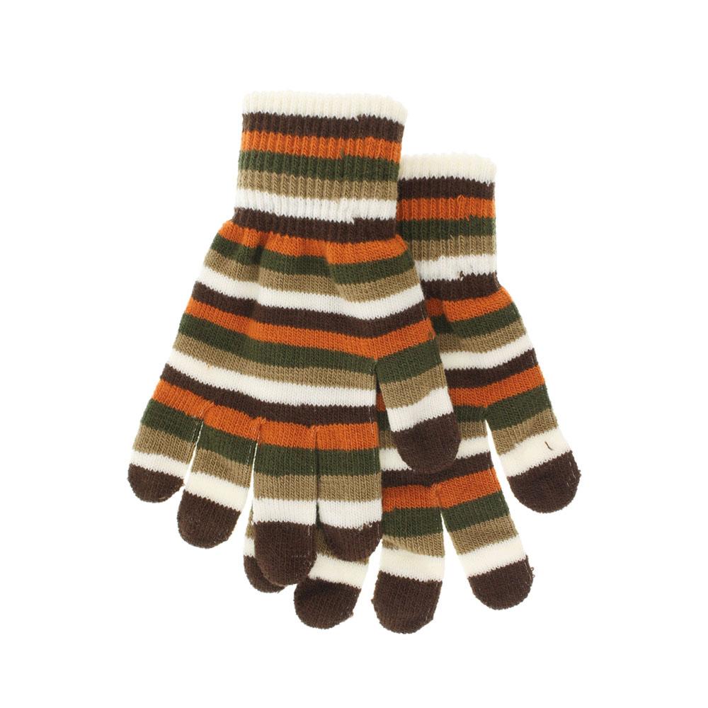 Перчатки женские. 223155223155Яркие женские перчатки Ignite, изготовленные из акрила с добавлением эластана, станут идеальным вариантом для прохладной погоды. Они хорошо сохраняют тепло, мягкие, идеально сидят на руке и хорошо тянутся. Модель оформлена принтом в полоску. Манжеты связаны двойной эластичной резинкой, мягко обхватывают запястья. Перчатки являются неотъемлемой принадлежностью одежды, они станут завершающим и подчеркивающим элементом вашего неповторимого стиля и индивидуальности.