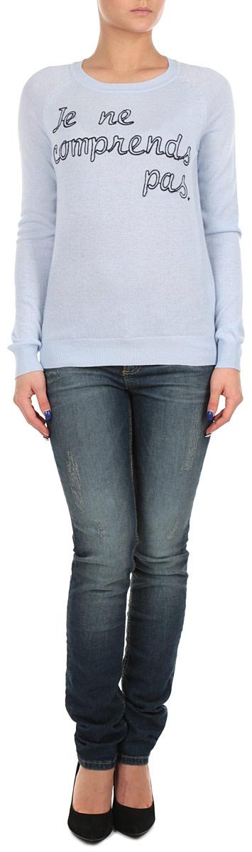 ДжемперB135524_LIGHT BLUEСтильный женский джемпер Baon, изготовленный из высококачественного материала, необычайно мягкий и приятный на ощупь, не сковывает движения, обеспечивая наибольший комфорт. Модель свободного кроя, с круглым вырезом горловины и длинными рукавами. Широкие мягкие резинки по низу и манжетам изделия препятствуют проникновению холодного воздуха. Этот модный и в тоже время комфортный джемпер станет отличным дополнением вашего гардероба!