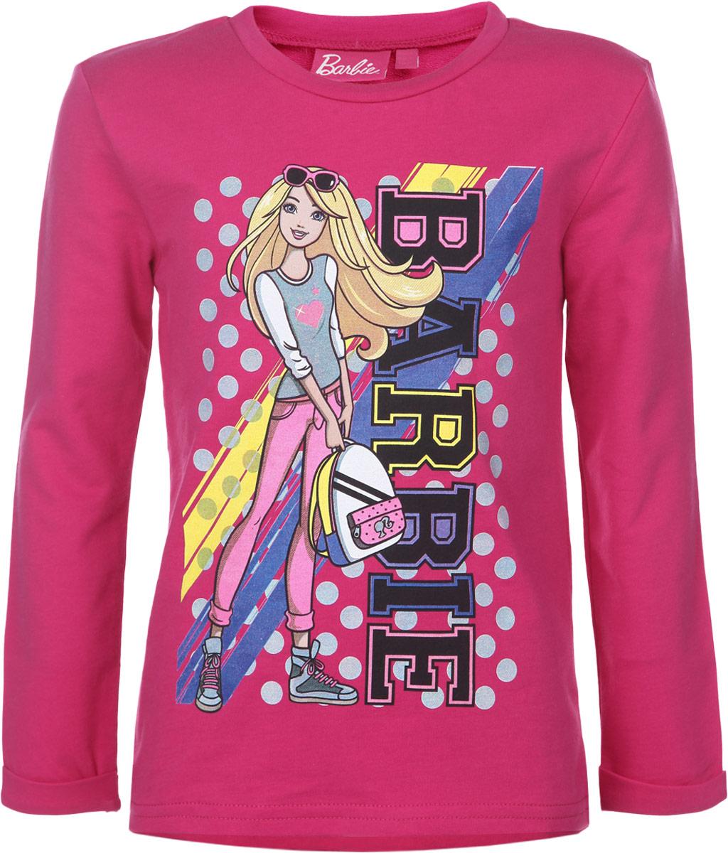 Футболка с длинным рукавом для девочки Barbie. ZG 09250-F1ZG 09250-F1Футболка с длинным рукавом для девочки Free Age Barbie станет отличным дополнением к детскому гардеробу. Изготовленная из натурального хлопка, она мягкая и приятная на ощупь, не сковывает движения и позволяет коже дышать, обеспечивая наибольший комфорт. Лицевая сторона изделия гладкая, а изнаночная - с небольшими петельками. Футболка с длинными рукавами и круглым вырезом горловины оформлена термоаппликацией с изображением куклы Барби, а также надписью. Края рукавов дополнены декоративными отворотами. Спинка модели удлинена. Стильный и яркий дизайн делает эту футболку модным предметом детской одежды. В ней ваша принцесса всегда будет в центре внимания.
