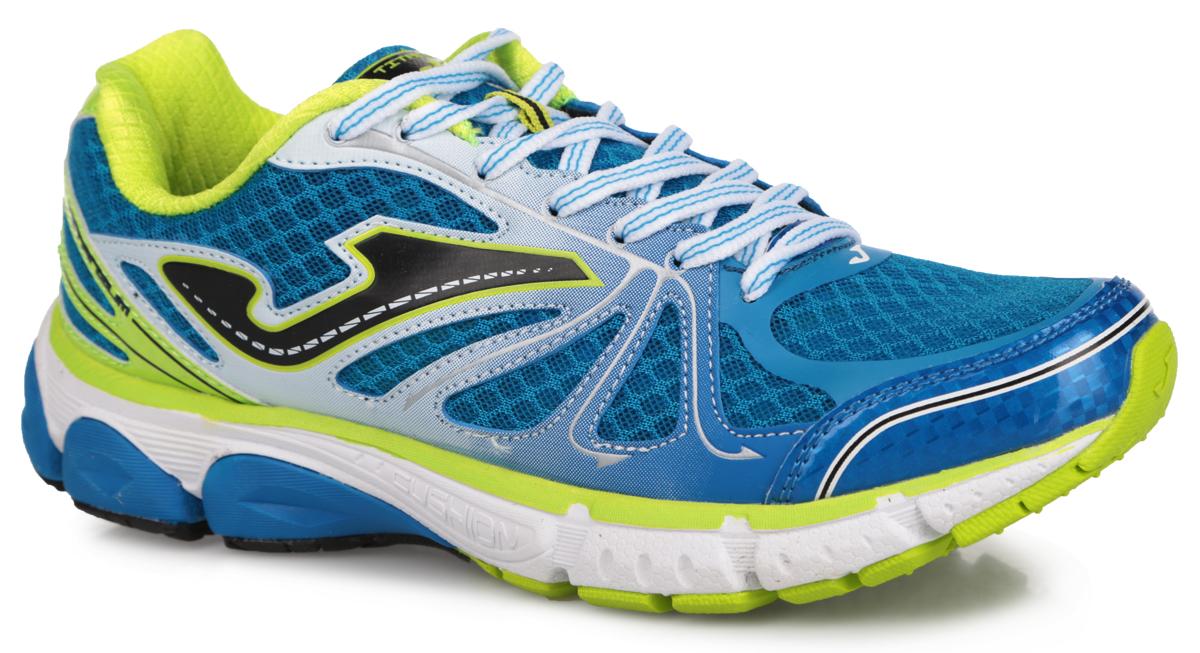 R.TITAS-504Мужские кроссовки Titanium от Joma подходят для тренировок спортсменов среднего веса. Верх выполнен из сетчатого текстиля и дополнен вставками из синтетической кожи. На языке, на заднике и по бокам изделие оформлено фирменным логотипом. Стелька из EVA с текстильной поверхностью обеспечивает комфорт. Шнуровка надежно фиксирует модель на ноге. Носочная часть дополнена защитной вставкой, уплотненный задник поддерживает ногу. Внутренняя конструкция модели выполнена по технологии перчатки, которая оборачивает вашу стопу и помогает работе связок и сухожилий. Гибкая подошва с системой стабилизации Pulsor Dio обеспечивая отличную амортизацию. Рельефный рисунок подошвы предотвращает скольжение. В таких кроссовках вашим ногам будет комфортно и уютно.