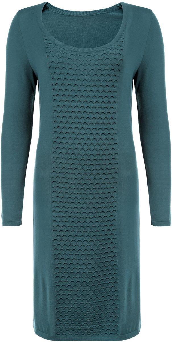 Платье. 881881Элегантное платье Milana Style, выполненное из высококачественных материалов, идеально впишется в ваш гардероб. Модель прямого кроя с круглым воротником и длинными рукавами прекрасно подчеркнет достоинства вашей фигуры. Манжеты и низ изделия окантованы мелкой резинкой, что предотвращает деформацию при носке. Это стильное платье станет отличным дополнением к вашему гардеробу.