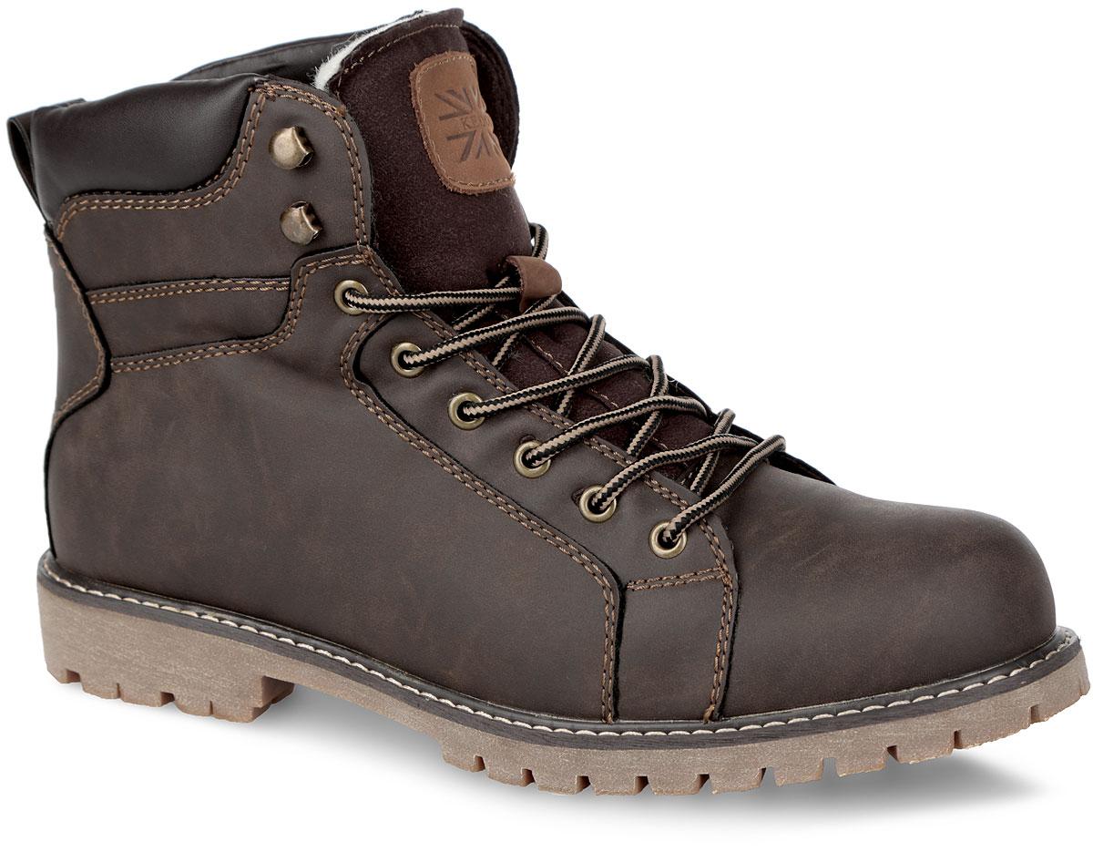 Ботинки мужские. 858382/05-01F858382/05-01FСтильные мужские ботинки от Keddo заинтересуют вас своим дизайном с первого взгляда! Модель выполнена из искусственного нубука и оформлена вдоль ранта контрастной прострочкой. Ярлычок на заднике облегчает обувание модели. Подкладка и стелька, выполненные на 50% из натуральной шерсти и на 50% из полиэстера, не дадут ногам замерзнуть. Удобная шнуровка надежно фиксирует модель на стопе. Каблук и подошва с рифлением обеспечивают отличное сцепление на любой поверхности. В этих ботинках вашим ногам будет комфортно и уютно.