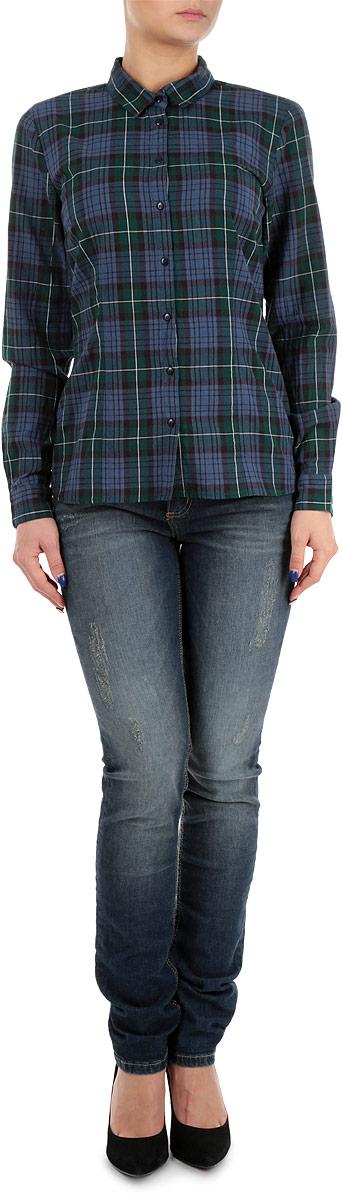 Рубашка женская. SKL1824ZISKL1824ZIСтильная женская рубашка Top Secret, выполненная из натурального хлопка, обладает высокой теплопроводностью, воздухопроницаемостью и гигроскопичностью, позволяет коже дышать, тем самым обеспечивая наибольший комфорт при носке даже самым жарким летом. Модель с длинными рукавами, отложным воротником и полукруглым низом застегивается на пуговицы. Манжеты также застегиваются на пуговицы. Изделие оформлено клетчатым принтом. Такая рубашка будет дарить вам комфорт в течение всего дня и послужит замечательным дополнением к вашему гардеробу.