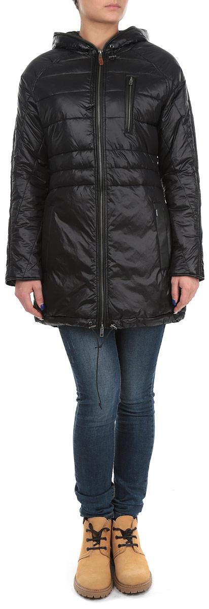 Куртка60101955 366Удобная женская куртка Broadway согреет вас в прохладную погоду. Модель с длинными рукавами и капюшоном застегивается на застежку-молнию, которая продолжается по краю капюшона, и имеет наполнитель из синтепона. Объем капюшона и низа куртки регулируется при помощи шнурков-кулисок со стопперами. Куртка дополнена двумя открытыми втачными карманами и одним втачным карманом на молнии спереди. Изделие оформлено стеганым узором. Эта модная и в то же время комфортная куртка - отличный вариант для прогулок и занятия спортом, она подчеркнет ваш изысканный вкус и поможет создать неповторимый образ.