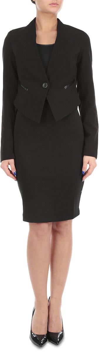Пиджак10150734 999Стильный женский пиджак Broadway, изготовленный из мягкого, приятного на ощупь материала, поможет вам создать оригинальный образ и подчеркнуть свой вкус. Укороченная модель с длинными рукавами и V-образным вырезом горловины застегивается спереди на две пуговицы. Пиджак оснащен подплечниками, спереди оформлен имитацией карманов. Этот элегантный пиджак станет отличным дополнением к вашему гардеробу и поможет вам создать неповторимый образ в стиле Casual.