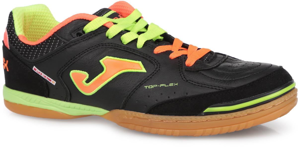 Кроссовки мужские Top Flex. TOPW.40TOPW.401.PSМужские кроссовки Top Flex от Joma предназначены для игры в футбол в зале. Верх выполнен из натуральной кожи со вставками из текстиля и натуральной замши и оформлен перфорацией. На языке и на заднике модель оформлена названием модели, по бокам - фирменным логотипом. Стелька из EVA с текстильной поверхностью обеспечивает комфорт во время игры. Двойная шнуровка контрастных цветов надежно фиксирует модель на ноге. Усиленный мыс и пяточная часть защищают ногу и уменьшают износ. Рельефный рисунок поверхности подошвы делают эту модель идеальным выбором для мастера футбола, который хочет выглядеть стильно и оригинально. Отличная поддержка стопы, обеспечение устойчивости и полного контроля мяча особенно важны для успеха в этом виде спорта, требующем стремительности и точности. В таких кроссовках вашим ногам будет комфортно и уютно.