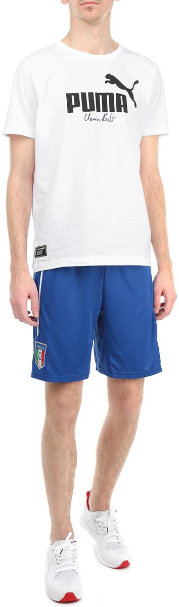 Шорты мужские FIGC Italia74429801Мужские шорты Puma FIGC Italia станут отличным дополнением к вашему спортивному гардеробу. Шорты выполнены из высококачественного воздухопроницаемого материала, который великолепно отводит влагу от тела. Модель дополнена широкой эластичной резинкой на поясе и оформлена вышивкой в виде логотипа Итальянской федерации футбола (FIGC). Шорты затягиваются на шнурок-кулиску на поясе. Эти модные шорты идеально подойдут для бега и других спортивных упражнений. В них вы всегда будете чувствовать себя уверенно и комфортно.