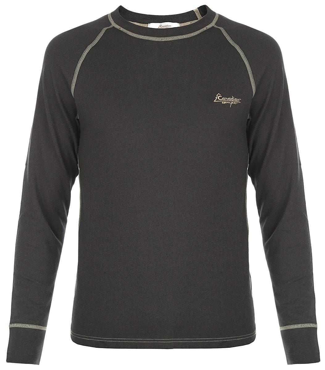Термобелье кофта мужская Thermal Underwear Top SilvianФуфайка CANADIAN CAMPER SILVANУниверсальное термобелье Canadian Camper для средних нагрузок с антибактериальной пропиткой отличается конструкцией рукавов и дизайном. Для охотников и рыболовов. Хлопок делает эту модель плотной, уютной и приятной на ощупь. Модал быстро выводит влагу - это мягкое, но износостойкое вискозное волокно не дает усадку, прекрасно стирается и делает белье мягким. В сочетании с полиэстером может поглотить и вывести больше влаги и поддерживать тело в сухом и комфортном состоянии. Антибактериальная пропитка с триклозаном не угнетает полезную микрофлору человека, действует против болезнетворных бактерий, сохраняется не менее чем при 50-ти стирках. Рукава-реглан оформлены эластичными манжетами. На груди расположен логотип бренда. Температурный режим от 0° С до -30° С. Термобелье Canadian Camper можно использовать, как при высокой физической активности так и при малой подвижности (зимняя рыбалка, охота, катание на снегоходах).