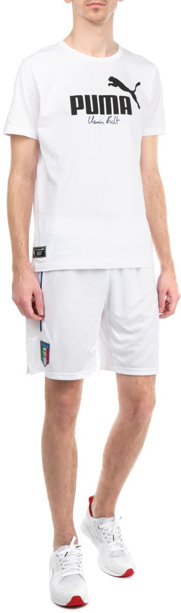 Шорты74429801Мужские шорты Puma FIGC Italia станут отличным дополнением к вашему спортивному гардеробу. Шорты выполнены из высококачественного воздухопроницаемого материала, который великолепно отводит влагу от тела. Модель дополнена широкой эластичной резинкой на поясе и оформлена вышивкой в виде логотипа Итальянской федерации футбола (FIGC). Шорты затягиваются на шнурок-кулиску на поясе. Эти модные шорты идеально подойдут для бега и других спортивных упражнений. В них вы всегда будете чувствовать себя уверенно и комфортно.