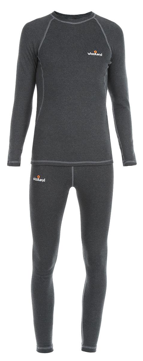 Термобелье комплект (брюки и кофта)Soft TermoКомплект мужского термобелья Woodland Soft Termo, состоящий из футболки с длинным рукавом и кальсонов, идеально подойдет для вас в холодную погоду. Изготовленный из полиэстера и хлопка с добавлением полипропилена и лайкры, он мягкий и приятный на ощупь, отлично отводит влагу и обеспечивает хорошую терморегуляцию, защищая как от перегрева, так и от охлаждения. Уникальная технология шитья без внутренних швов обеспечит прекрасное теплосбережение и комфорт при длительном ношении. Волокна материала содержат ионы серебра, которые наделяют термобелье антибактериальными свойствами: защищают от неприятных запахов и обеспечивают гигиеничность при интенсивных нагрузках. Лицевая сторона гладкая, а изнаночная - с мягким теплым начесом. Футболка с длинными рукавами-реглан и круглым вырезом горловины оформлена контрастной прострочкой, а также небольшой термоаппликацией с логотипом бренда на груди. Кальсоны имеют на поясе широкую эластичную резинку. Модель также...