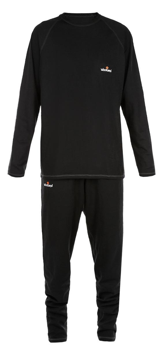 Ultra Wool ThermoКомплект мужского термобелья Woodland Ultra Wool Thermo, состоящий из футболки с длинным рукавом и брюк, идеально подойдет для вас в холодную погоду. Изготовленный из двухслойной ткани, он легкий, мягкий и приятный на ощупь. Внутренний слой из функционального синтетического волокна - полиэстера хорошо отводит влагу от поверхности тела. Внешний слой состоит из шерсти, которая отлично сохраняет тепло, и акрила, который обеспечивает прочность и эластичность изделия, а также успешно испаряет влагу при активных физических нагрузках. Швы модели выполнены с внешней стороны, они мягкие и эластичные, обеспечивают комфорт при длительном ношении. Футболка с длинными рукавами-реглан и круглым вырезом горловины оформлена контрастной прострочкой, а также небольшой термоаппликацией с логотипом бренда на груди. Брюки имеют на поясе широкую эластичную резинку. Модель также оформлена контрастной прострочкой и термоаппликацией. Комплект термобелья станет отличным...