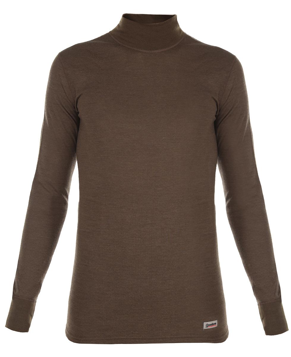 Термобелье кофта22-0340-NДвухслойная мужская кофта Guahoo Outdoor подходит для активного отдыха повседневной носки в холодную и очень холодную погоду. Верхний слой полотна изготовлен из шерсти овец породы Меринос, которая прекрасно сохраняет тепло, делает ткань мягкой и прочной. Нижний слой из полиэстера отводит влагу от тела, придает прочность изделию, предотвращает усадку и деформацию изделия после стирки и в процессе носки. Кофта с длинными рукавами и воротником-стойкой оформлена небольшой нашивкой с названием бренда. Рукава дополнены широкими трикотажными манжетами.
