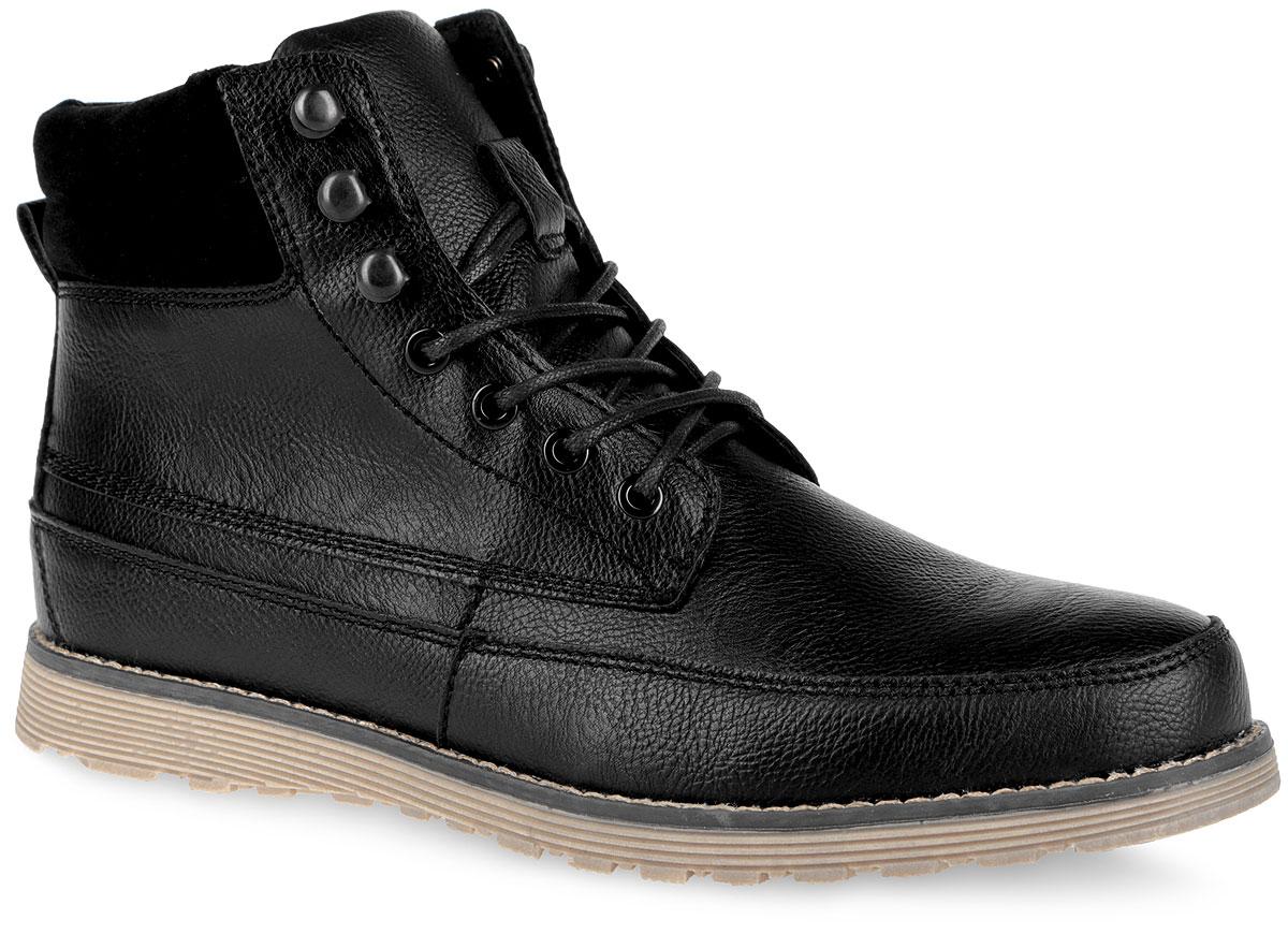 Ботинки мужские. 858331/01-02F858331/01-02FСтильные мужские ботинки Keddo - незаменимая вещь в гардеробе каждого мужчины. Модель выполнена из искусственной кожи с фактурной поверхностью и декорирована по канту вставкой из искусственного спилка, оформленного горизонтальной строчкой. Верх изделия дополнен шнуровкой, которая надежно фиксирует модель на ноге и регулирует объем. Подкладка и стелька из искусственной шерсти (30% натуральная шерсть, 70% полиэстер) защитят ноги от холода и обеспечат комфорт. Ботинки застегиваются на застежку-молнию, расположенную на одной из боковых сторон. Задник дополнен ярлычком для более удобного надевания обуви. Подошва с рельефным протектором обеспечивает отличное сцепление с любой поверхностью. Модные ботинки покорят вас своим оригинальным дизайном и удобством!