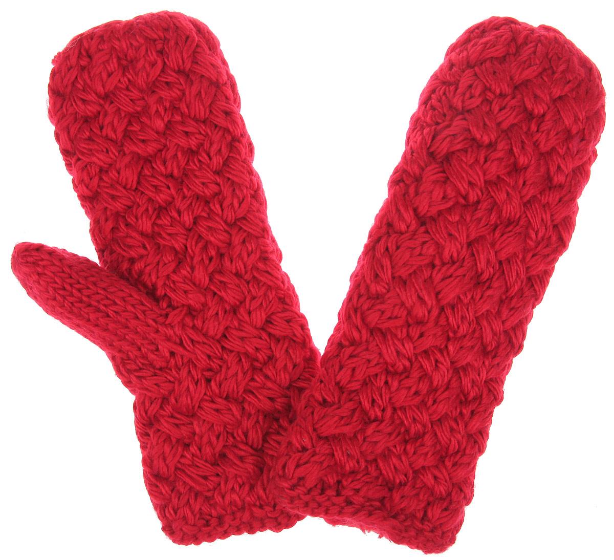 Варежки. 81858185Теплые вязаные варежки R.Mountain - идеальный аксессуар для зимних холодов, внутри имеют мягчайшую плюшевую подкладку, для вашего комфорта и удобной носки. Мягкий цвет, а также крупная вязка придает образу неотразимый вид, а приятный на ощупь шерстяной материал дарит ощущение тепла и комфорта. Одна из варежек оформлена не большим деревянным элементом в виде логотипа бренда. Сочетать этот аксессуар можно с любыми цветами гардероба.