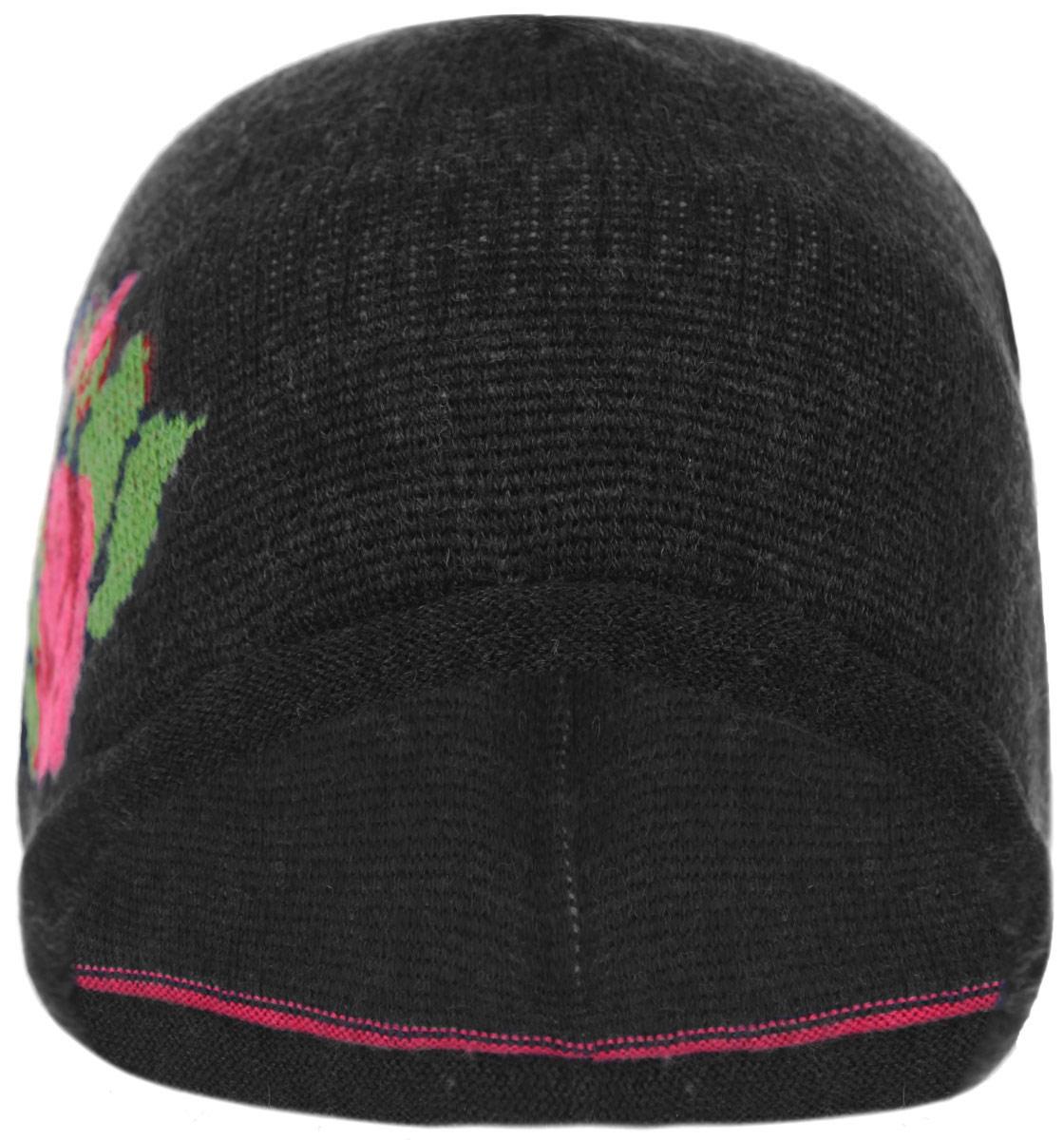 Шапка женская. 012.00005012.00005.01Стильная женская шапка Anti отлично дополнит ваш образ в холодную погоду. Шапка, выполненная из шерсти и акрила, отлично сохраняет тепло. Модель оформлена изображением розы. Такая модель комфортна и приятна на ощупь, она великолепно подчеркнет ваш вкус. Шапка Anti станет отличным дополнением к вашему осеннему или зимнему гардеробу, в ней вам будет уютно и тепло!