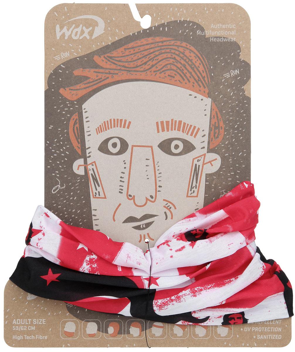 БанданаУТ-00006310Многофункциональный головной убор WindXtreme - это очень современный предмет одежды, который защитит вас от холода при занятиях спортом и отдыхе на открытом воздухе. Его можно использовать как: шарф, шейный платок, бандану, повязку, ленту для волос, балаклаву и шапку. Подходит для занятий бегом, походов, скалолазания, езды на велосипеде, сноуборда, катания на лыжах, мотоциклах, игры в хоккей, а так же для повседневного использования. Он без швов, мягкий, легкий, эластичный, комфортный и воздухопроницаемый. Обеспечивает отведение влаги, быстрое высыхание, обладает антибактериальным эффектом. 100% высокотехнологичный полиэстер Sanitized. Принт - портрет Че Гевары. Один размер, подходит как для взрослых, так и для подростков.