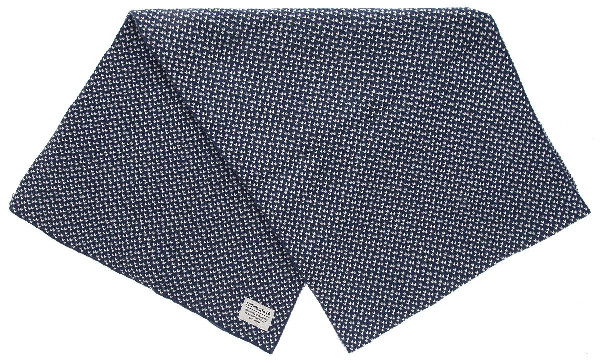 Шарф мужской Denim. 0219601.00.120219601.00.12_6519Стильный мужской шарф Tom Tailor Denim, выполненный из полиакриловой пряжи, создан подчеркнуть ваш вкус и согреть вас в прохладное время года. Модель отличается невероятной легкостью и мягкостью. Оформлен шарф небольшой нашивкой. Этот модный аксессуар гармонично дополнит ваш образ.