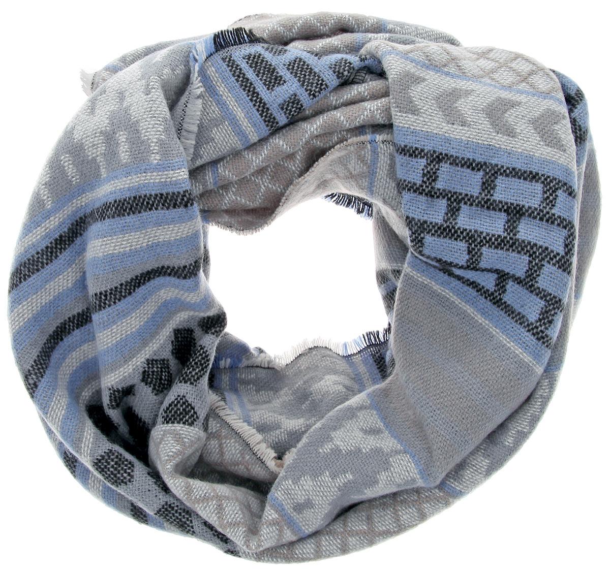 Шарф-хомут Denim. 0220008.00.710220008.00.71_6933Стильный шарф-хомут Tom Tailor Denim дополнит ваш наряд и не позволит вам замерзнуть в прохладное время года. Модель изготовлена из высококачественной полиакриловой пряжи, что позволяет ей великолепно сохранять тепло и обеспечивает высокую эластичность. Оформлена модель вязаным орнаментом. Такой шарф-хомут станет модным и стильным дополнением вашего гардероба. Он согреет вас и позволит подчеркнуть свою индивидуальность!