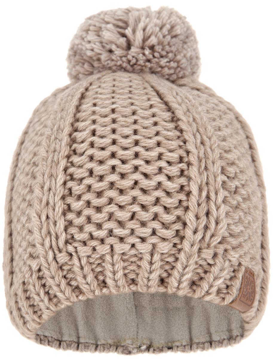 Шапка для девочки. MFH5127/2MFH5127/2-055Вязаная шапка для девочки Marhatter идеально подойдет для прогулок в холодное время года. Изготовленная из шерсти и акрила, она мягкая и приятная на ощупь, обладает хорошими дышащими свойствами и максимально удерживает тепло. Подкладка шапки выполнена из мягкого теплого флиса. Шапка дополнена пушистым помпоном на макушке. Модель оформлена крупным вязаным узором, а также украшена небольшой пластиной с логотипом бренда. Современный дизайн и расцветка делают эту шапку стильным предметом детского гардероба. В ней ваш ребенок будет чувствовать себя тепло, уютно и комфортно. Уважаемые клиенты! Размер, доступный для заказа, является обхватом головы.