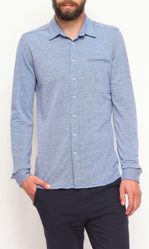Рубашка мужская. SKL1887NISKL1887NIМужская рубашка Top Secret, выполненная из высококачественного 100% хлопка, обладает высокой теплопроводностью, воздухопроницаемостью и гигроскопичностью, позволяет коже дышать, тем самым обеспечивая наибольший комфорт при носке. Модель классического кроя с отложным воротником застегивается на пуговицы. Длинные рукава рубашки дополнены манжетами на пуговицах. На груди расположен открытый втачной карман. Такая рубашка подчеркнет ваш вкус и поможет создать великолепный стильный образ.