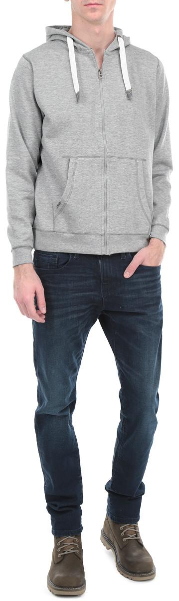 Julius Melange/DARKGREYMELСпортивная мужская толстовка MeZaGuZ, изготовленная из полиэстера и хлопка, необычайно мягкая и приятная на ощупь, не сковывает движения, обеспечивая наибольший комфорт. Модель с капюшоном на кулиске застегивается на пластиковую застежку-молнию. Толстовка имеет широкую трикотажную резинку по низу и манжетам, что предотвращает проникновение холодного воздуха. Спереди модель дополнена двумя накладными карманами кенгуру. Эта модная и в тоже время комфортная толстовка отличный вариант как для активного отдыха, так и для занятий спортом!