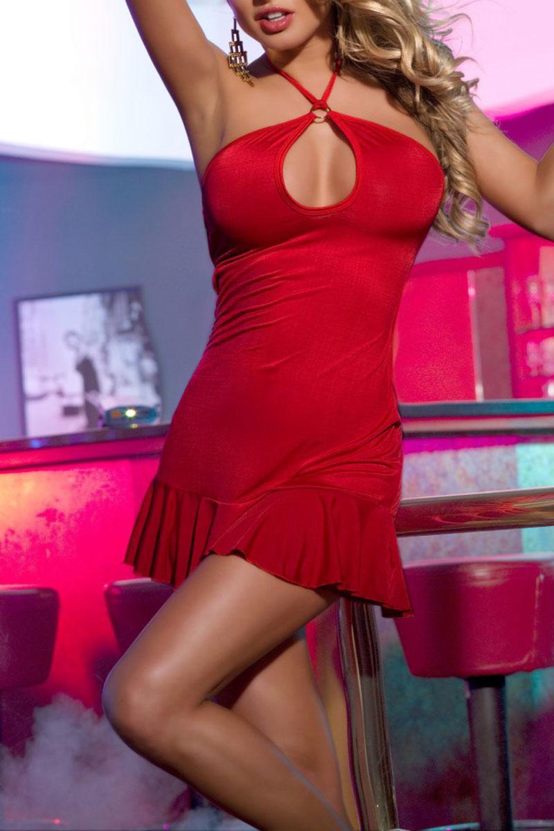 Платье гоу-гоу. 840004840004Клубное платье с открытой спиной Candy Girl, выполненное из высококачественного материала, дерзкое и сексуальное. Модель с выразительным декольте на шее фиксируется при помощи завязок. Небольшая юбка подчеркнет каждое движение. Такое игривое платье добавит особенного настроения вашему образу.