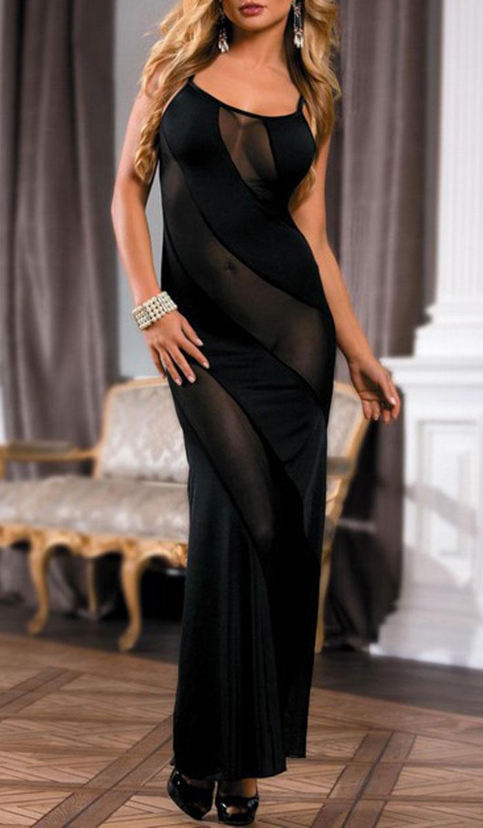 Эротическое длинное платье прозрачное 5 фотография