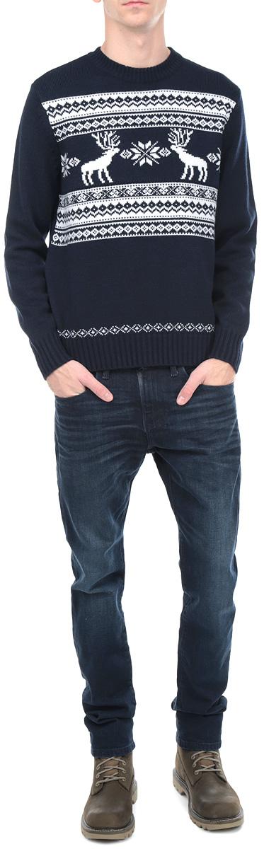 Джемпер мужской. W15-42101W15-42101_202Стильный мужской джемпер Finn Flare, выполненный из шерсти с добавлением акрила, необычайно мягкий и приятный на ощупь, не сковывает движения, обеспечивая наибольший комфорт. Модель с круглым вырезом горловины и длинными рукавами идеально гармонирует с любыми предметами одежды и будет уместен и на отдых, и на работу. Низ и манжеты изделия связаны широкой резинкой, что предотвращает деформацию при носке. Мягкий и уютный джемпер станет прекрасным дополнением вашего гардероба.