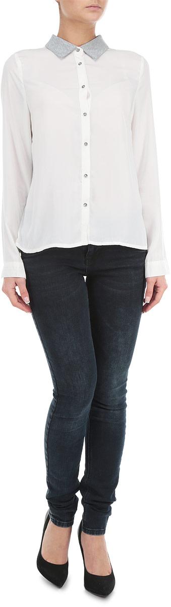 Рубашка женская. 1015399210153992_001Стильная женская рубашка-блузка Broadway с длинными рукавами, отложным воротником и застежкой на пуговицы приятная на ощупь, не сковывает движения, обеспечивая наибольший комфорт. Изделие выполнено из двух видов ткани. Рубашка обладает высокой воздухопроницаемостью и гигроскопичностью, позволяет коже дышать, тем самым обеспечивая наибольший комфорт при носке даже самым жарким летом. Эта модная и удобная рубашка послужит замечательным дополнением к вашему гардеробу.