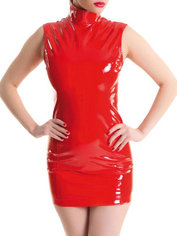 Платье для ролевых игр. 955000955000Платье для ролевых игр Erolanta Glossy добавит особенного настроения вашему образу. Изготовлено платье из высококачественного материала - поливинилхлорида и полиэстера. Облегающая лаковая модель с воротником стойкой застегивается по спинке на пластиковую застежку-молнию. В таком платье вы будете выглядеть безупречно!