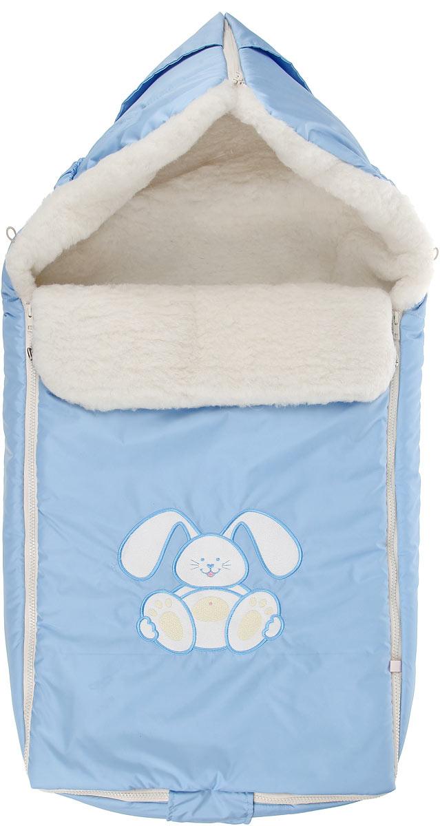 969/1Теплый конверт для новорожденного Сонный Гномик Зайчик идеально подойдет для ребенка в холодное время года. Конверт изготовлен из водоотталкивающей и ветрозащитной ткани Dewspo (100% полиэстер) на подкладке из шерсти с добавлением полиэстера. В качестве утеплителя используется шелтер (100% полиэстер). Шелтер (Shelter) - утеплитель нового поколения с тонкими волокнами. Его более мягкие ячейки лучше удерживают воздух, эффективнее сохраняя тепло. Более частые связи между волокнами делают утеплитель прочным и позволяют сохранить его свойства даже после многократных стирок. Утеплитель шелтер максимально защищает от холода и не стесняет движений. Верхняя часть конверта может использоваться в качестве капюшона в ветреную или холодную погоду и надеваться на спинку коляски благодаря эластичным ремешкам и вставке. С помощью застежки-молнии верх принимает вид треугольного капюшона. Пластиковая застежка-молния по бокам и нижнему краю изделия помогает с легкостью доставать малыша из...