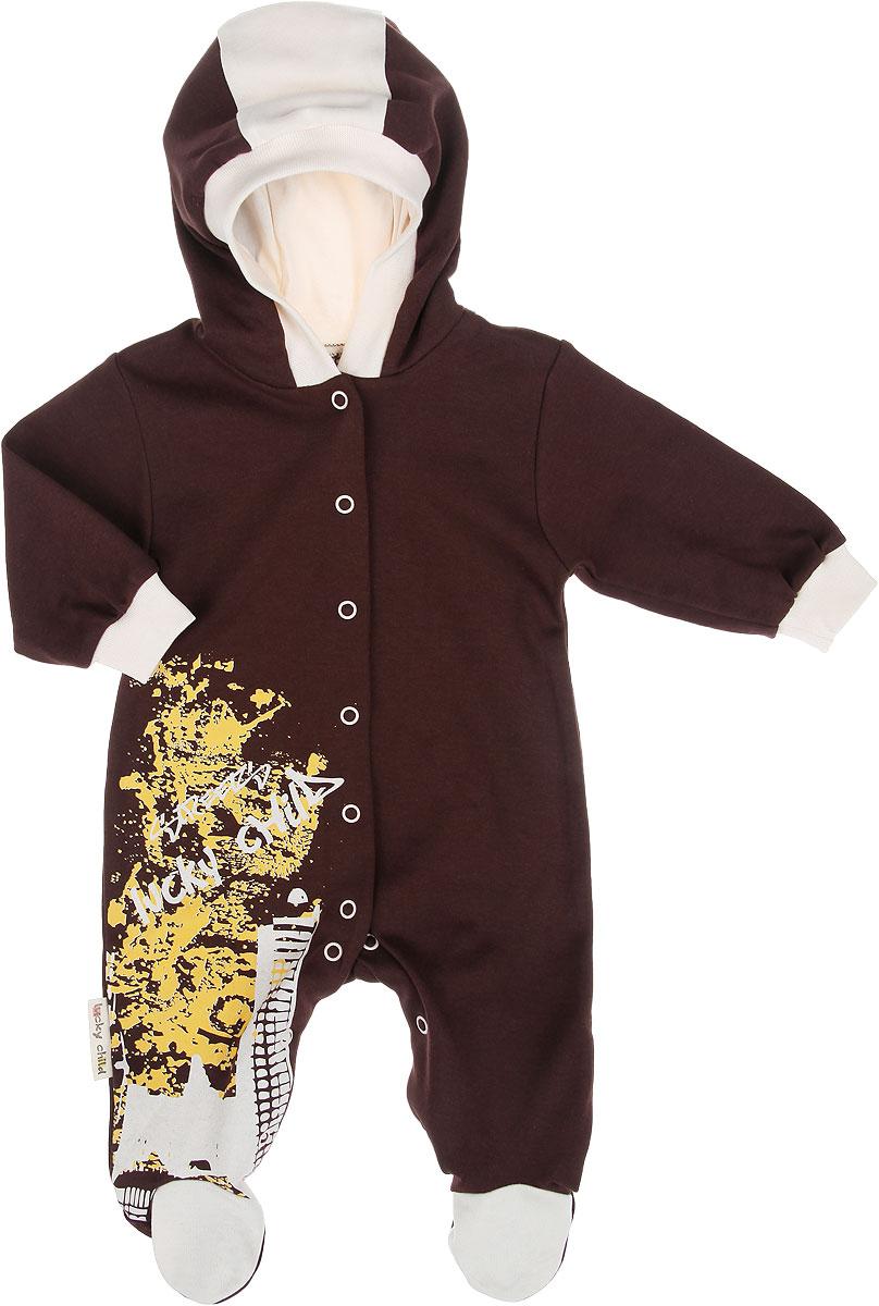 Комбинезон домашний16-3Детский комбинезон Lucky Child Город - очень удобный и практичный вид одежды для малышей. Комбинезон выполнен из интерлока - натурального хлопка, благодаря чему он необычайно мягкий и приятный на ощупь, не раздражает нежную кожу ребенка и хорошо вентилируется, а эластичные швы приятны телу и не препятствуют его движениям. Комбинезон с капюшоном, длинными рукавами и закрытыми ножками имеет застежки-кнопки от горловины до щиколоток, которые помогают легко переодеть младенца или сменить подгузник. Край капюшона и низ рукавов дополнены трикотажными резинками. Изделие спереди оформлено оригинальной термоаппликацией. С детским комбинезоном Lucky Child спинка и ножки вашего крохи всегда будут в тепле, он идеален для использования днем и незаменим ночью. Комбинезон полностью соответствует особенностям жизни младенца в ранний период, не стесняя и не ограничивая его в движениях!