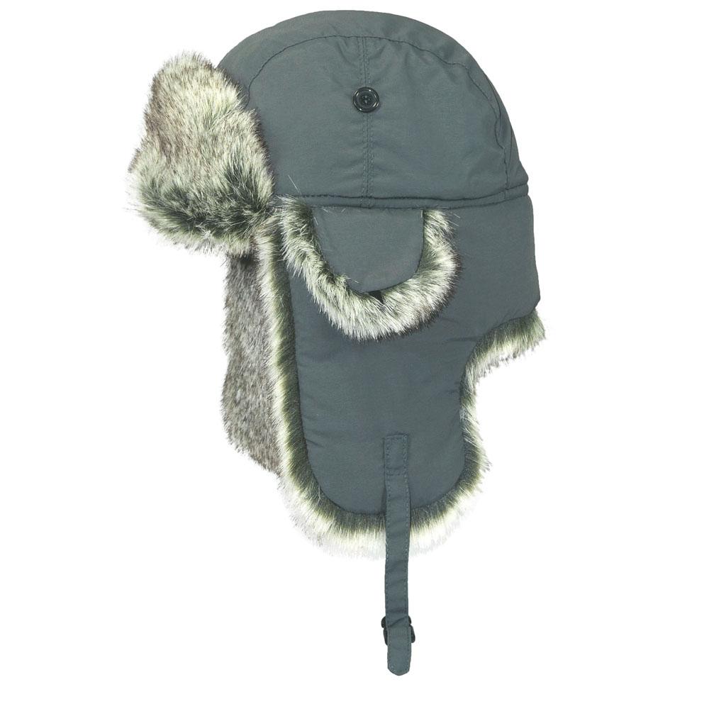 Шапка-ушанка. B-9001B-9001Стильная шапка-ушанка Ignite с отделкой из искусственного меха - великолепный головной убор на зиму. Такое изделие, несомненно, вам понравится и поможет создать актуальный образ. Свойство ушанки сохранять тепло лежит в функциональной конструкции и деталях, плотно закрывающих лоб и уши. Модель имеет хлястик с защелкой на ушах и оформлена дополнительными декоративными мини-ушками, фиксирующими на пуговицы. Шапка-ушанка - комфортный и теплый аксессуар на самую холодную зиму.
