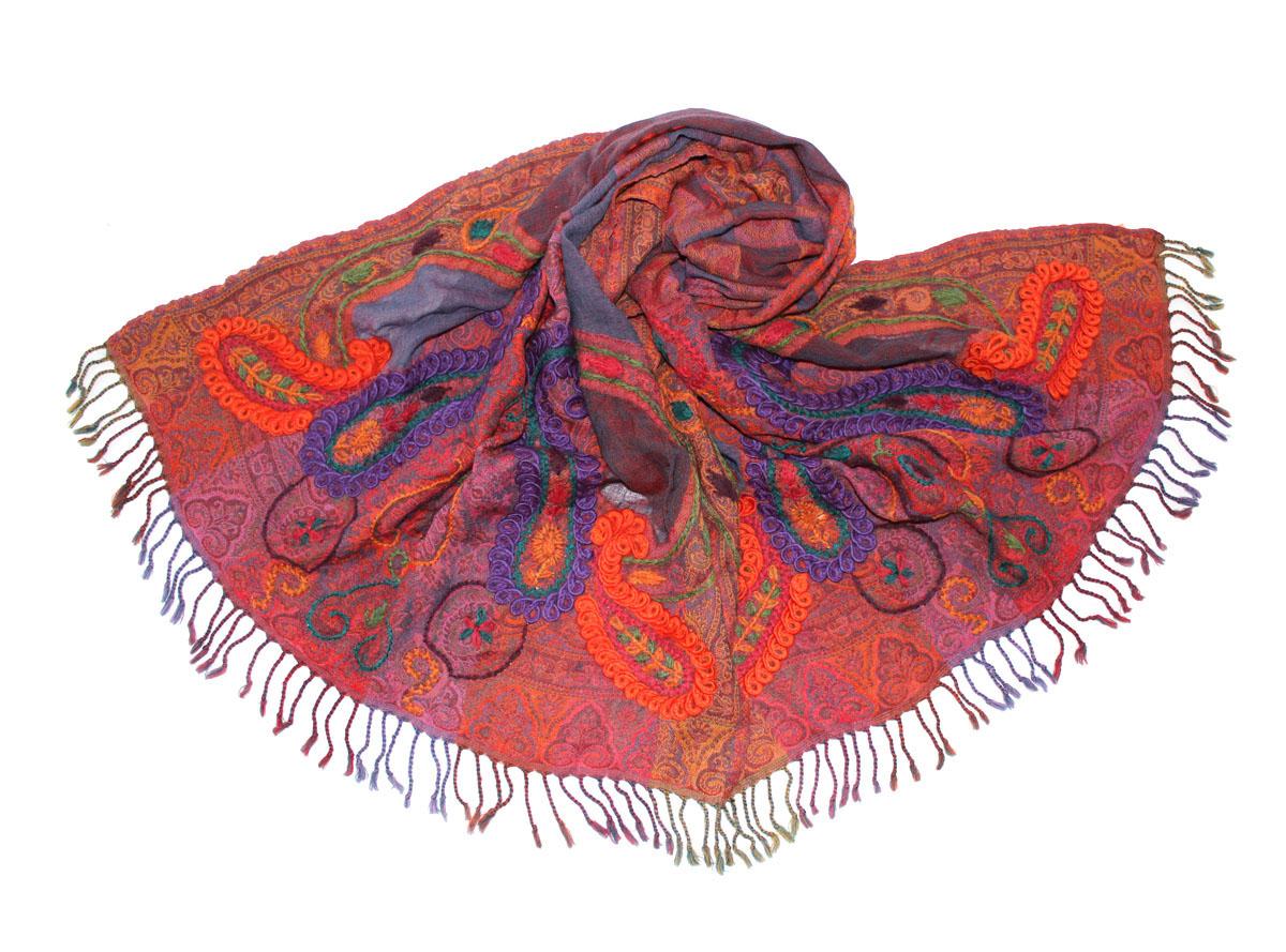 Палантин жен. 094725а094725аИзготавливается из натурального сырья с использованием натуральных красителей