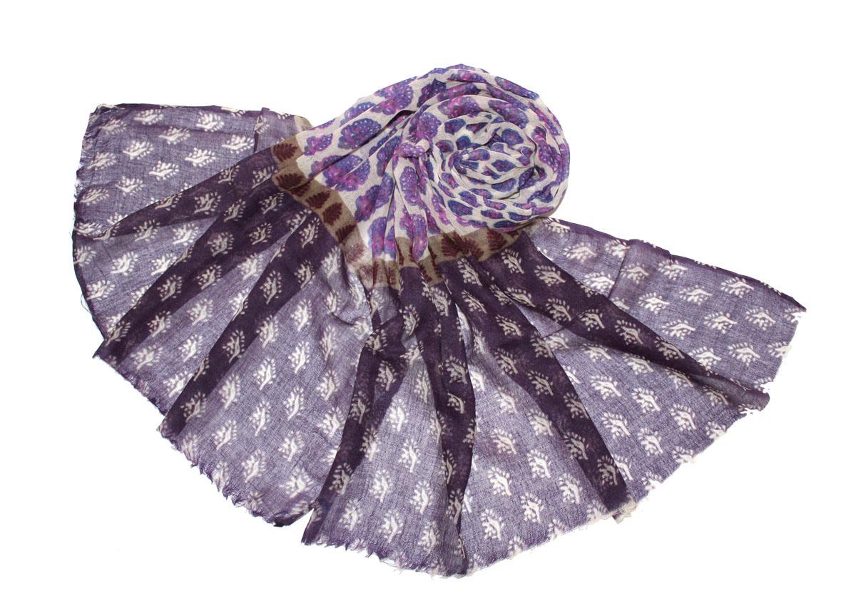 Палантин жен. 350н350нИзготавливается из натурального сырья с использованием натуральных красителей