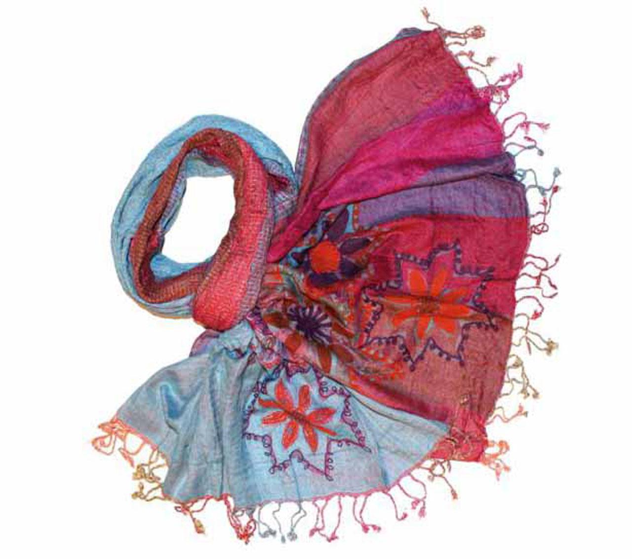 Палантин жен. 902200902200Изготавливается из натурального сырья с использованием натуральных красителей