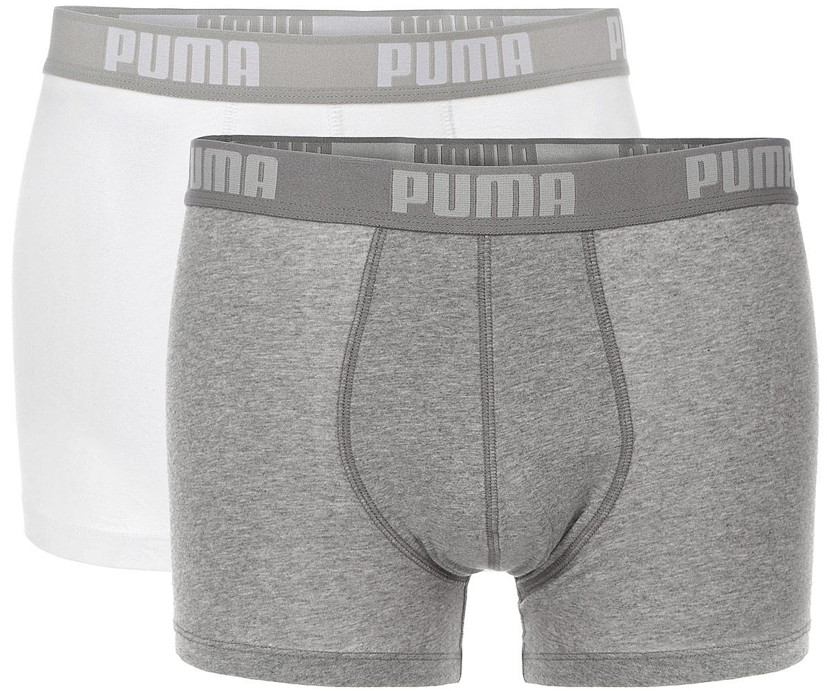 Трусы мужские Puma Basic Boxer 2P, 2 шт. 88886988886954Комплект классических трусов-боксеров Puma Basic Boxer 2P с широкой резинкой и надписью с названием бренда по поясу, выполнен из хлопка с содержанием эластана. Тонкие, мягкие, нежные и приятные к телу трусы подходят к любой фигуре и будут незаметны под одеждой. Модель создана для тех, кто предпочитает комфорт, практичность и современный дизайн. В комплекте 2 шт.