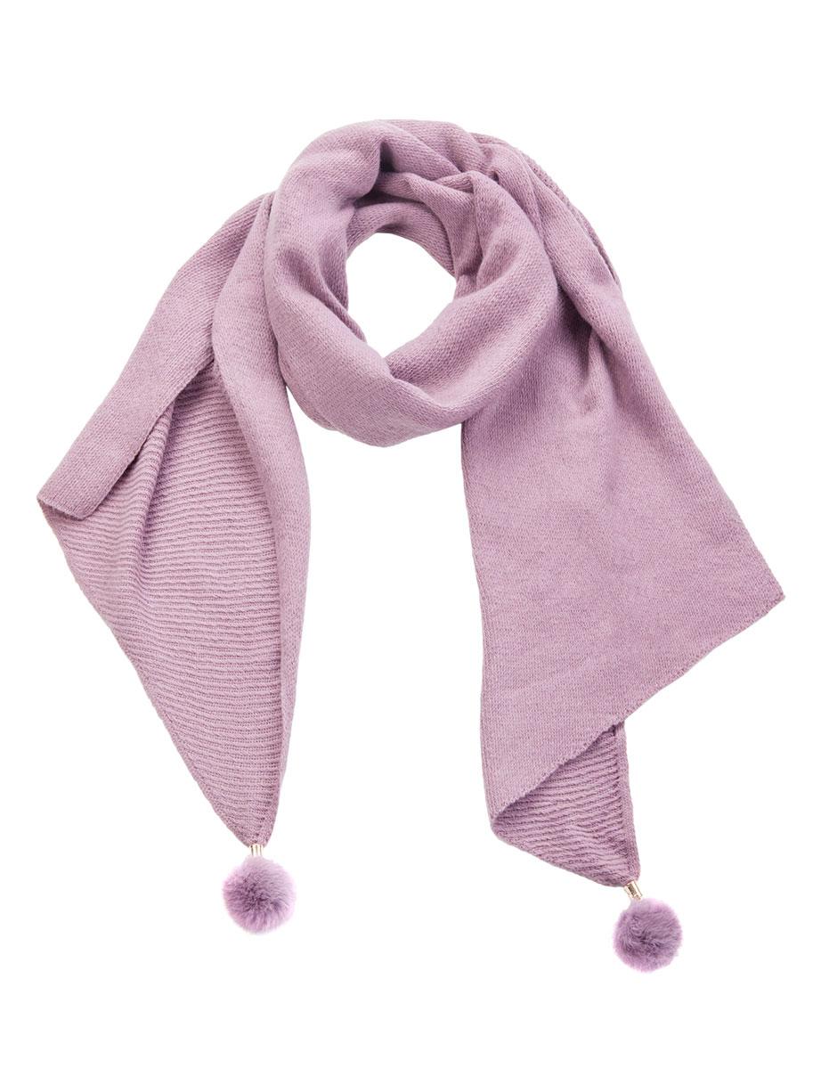 BL57-2348-02Женский шарф Eleganzza станет отличным дополнением к вашему гардеробу в холодную погоду. Шарф, выполненный из шерсти с добавлением акрила, очень мягкий, теплый и приятный на ощупь. Модель имеет скошенные края, которые декорированы крупными помпонами из натурального меха, прикрепленными металлическими трубочками к концам изделия. Современный дизайн и расцветка делают этот шарф модным и стильным женским аксессуаром. Он подарит вам ощущение комфорта, тепла и уюта.