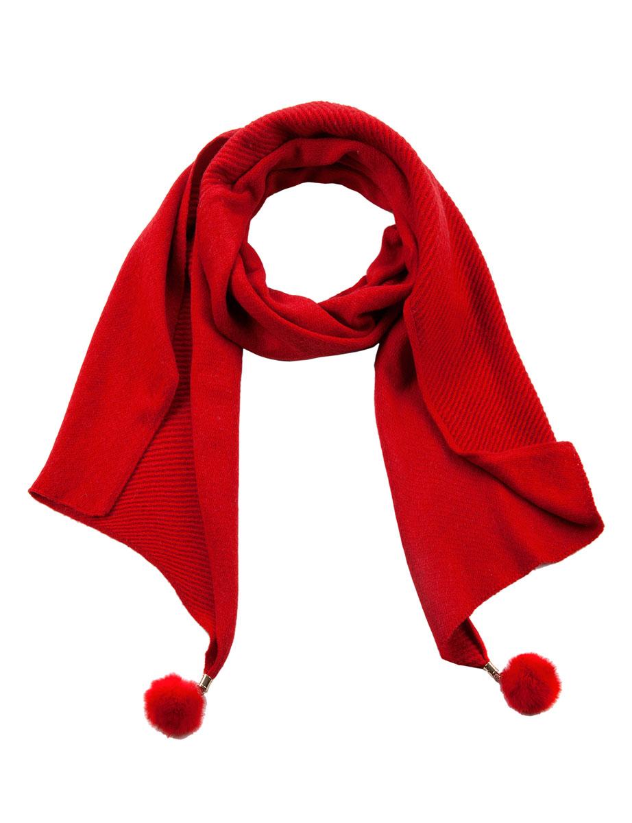 ШарфBL57-2348-02Женский шарф Eleganzza станет отличным дополнением к вашему гардеробу в холодную погоду. Шарф, выполненный из шерсти с добавлением акрила, очень мягкий, теплый и приятный на ощупь. Модель имеет скошенные края, которые декорированы крупными помпонами из натурального меха, прикрепленными металлическими трубочками к концам изделия. Современный дизайн и расцветка делают этот шарф модным и стильным женским аксессуаром. Он подарит вам ощущение комфорта, тепла и уюта.