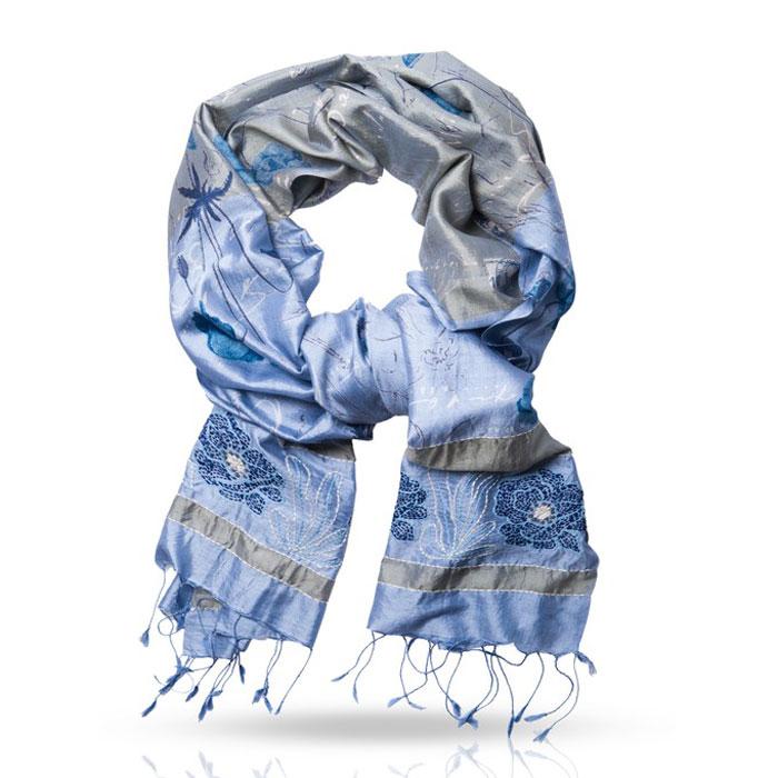 ШарфSN.SH-EMB/AСтильный шарф Michel Katana станет отличным завершением вашего образа. Шарф изготовлен из 100%-го шелка. Материал мягкий и приятный на ощупь, хорошо драпируется. Края палантина декорированы кисточками, скрученными в жгутики. Этот модный аксессуар гармонично дополнит любой наряд и подчеркнет ваш изысканный вкус.