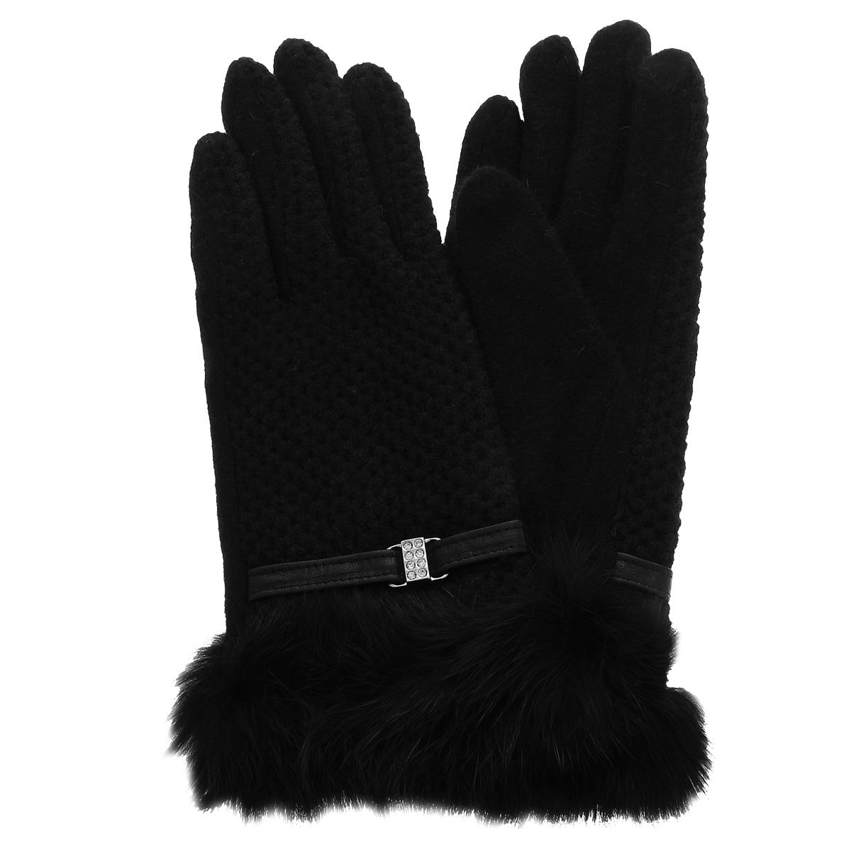 Перчатки женские. LB-PH-38LB-PH-38Стильные женские перчатки Labbra не только защитят ваши руки от холода, но и станут великолепным украшением. Перчатки выполнены из шерсти с добавлением акрила и ангоры. Манжета модели украшена декоративным кожаным ремешком с пряжкой и натуральным мехом кролика. В настоящее время перчатки являются неотъемлемой принадлежностью одежды, вместе с этим аксессуаром вы обретаете женственность и элегантность. Перчатки станут завершающим и подчеркивающим элементом вашего стиля и неповторимости.
