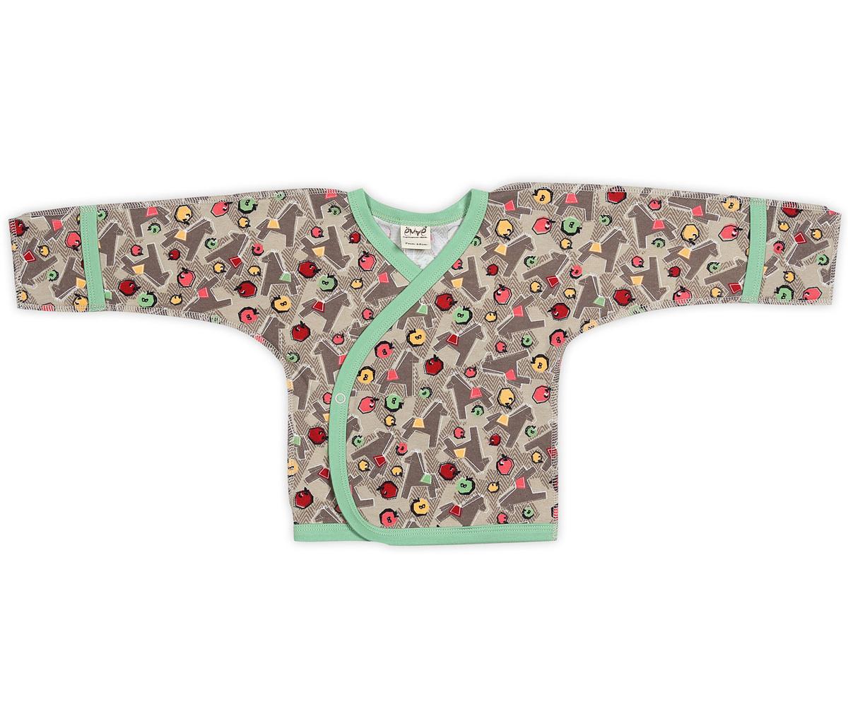 Распашонка-кимоно. 23-21623-216Распашонка-кимоно Ёмаё станет отличным дополнением к детскому гардеробу и обеспечит ребенку наибольший комфорт. Распашонка изготовлена из натурального хлопка, благодаря чему она необычайно мягкая и легкая, не раздражает нежную кожу ребенка и хорошо вентилируется. Эластичные швы, выполненные наружу, приятны телу младенца и не препятствуют его движениям. Распашонка с длинными рукавами-кимоно и V-образным вырезом горловины застегивается с помощью кнопок по принципу кимоно, что помогает с легкостью переодеть кроху. Рукава дополнены рукавичками, благодаря которым ребенок не поцарапает себя. Ручки могут быть как открытыми, так и закрытыми. Вырез горловины, рукава и низ изделия оформлены контрастными бейками. На спинке имеется небольшая нашивка с фирменным логотипом. Распашонка полностью соответствует особенностям жизни малютки в ранний период. В ней вашему ребенку будет комфортно и уютно!