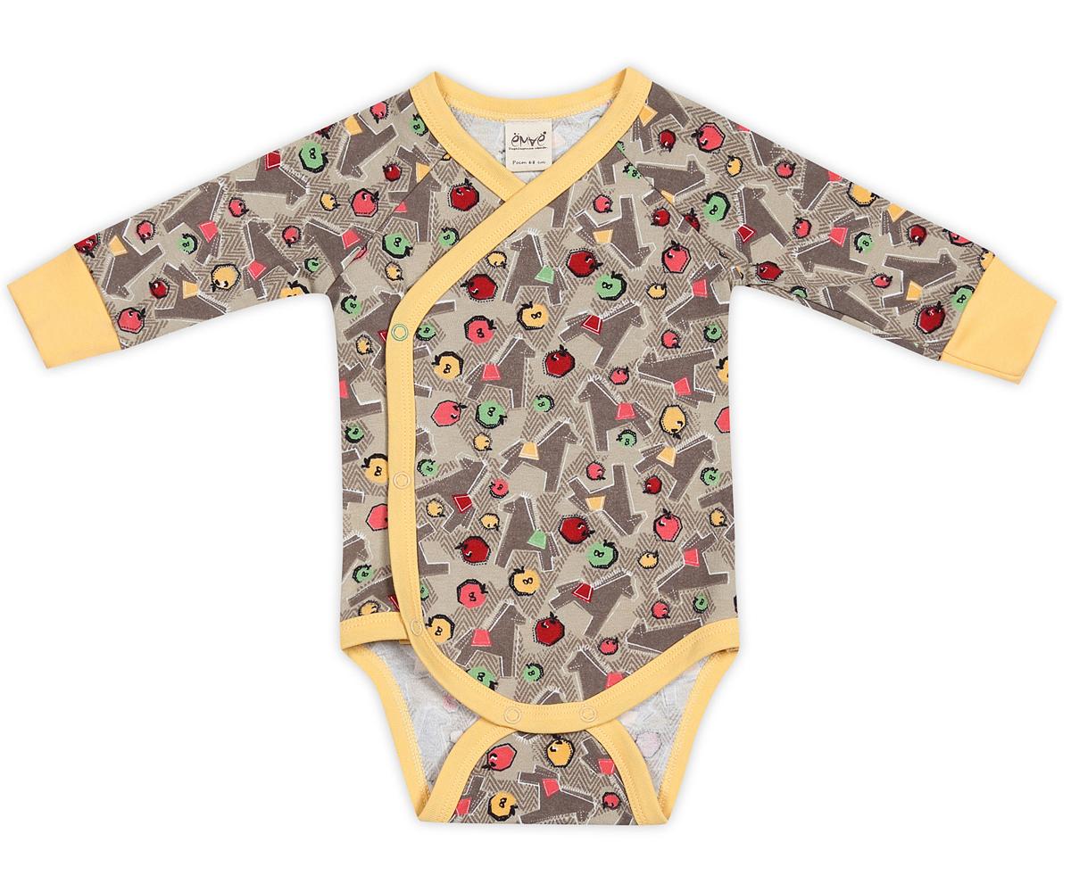 Боди-кимоно детское. 24-24424-244Детское боди-кимоно Ёмаё с длинными рукавами послужит идеальным дополнением к гардеробу вашего ребенка, обеспечивая ему наибольший комфорт. Боди изготовлено из натурального хлопка, благодаря чему оно необычайно мягкое и легкое, не раздражает нежную кожу ребенка и хорошо вентилируется. Эластичные швы приятны телу младенца и не препятствуют его движениям. Удобные застежки-кнопки по принципу кимоно и застежки-кнопки на ластовице помогают легко переодеть малютку и сменить подгузник. Рукава-реглан имеют мягкие трикотажные манжеты. Вырез горловины, планка и пройма для ножек дополнены контрастной бейкой. Боди оформлено мелким принтом с изображением лошадок, а также небольшой нашивкой на спинке с фирменным логотипом. Боди полностью соответствует особенностям жизни ребенка в ранний период, не стесняя и не ограничивая его в движениях.