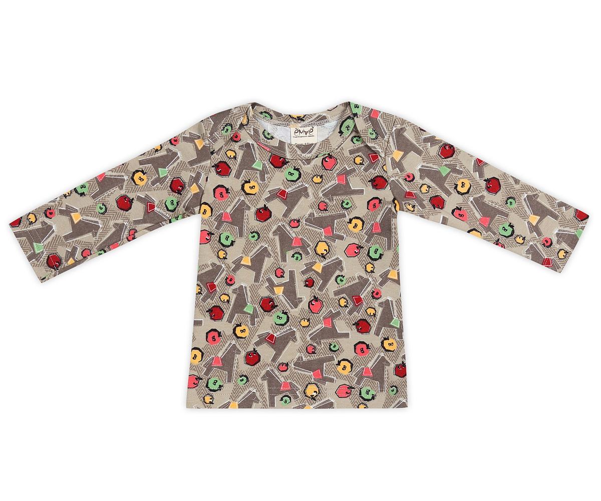 Футболка с длинным рукавом детская. 27-21027-210Очаровательная детская футболка Ёмаё с длинным рукавом идеально подойдет вашему ребенку. Изготовленная из натурального хлопка, она необычайно мягкая и приятная на ощупь, не сковывает движения и позволяет коже дышать, не раздражает даже самую нежную и чувствительную кожу ребенка, обеспечивая ему наибольший комфорт. Футболка с длинными рукавами и круглым вырезом горловины имеет запахи на плечах, что помогает с легкостью переодеть ребенка. Модель оформлена мелким принтом с изображением лошадок. Современный дизайн и расцветка делают эту футболку модным и удобным предметом детского гардероба. В ней ваша маленькая модница будет чувствовать себя уютно и комфортно, и всегда будет в центре внимания!