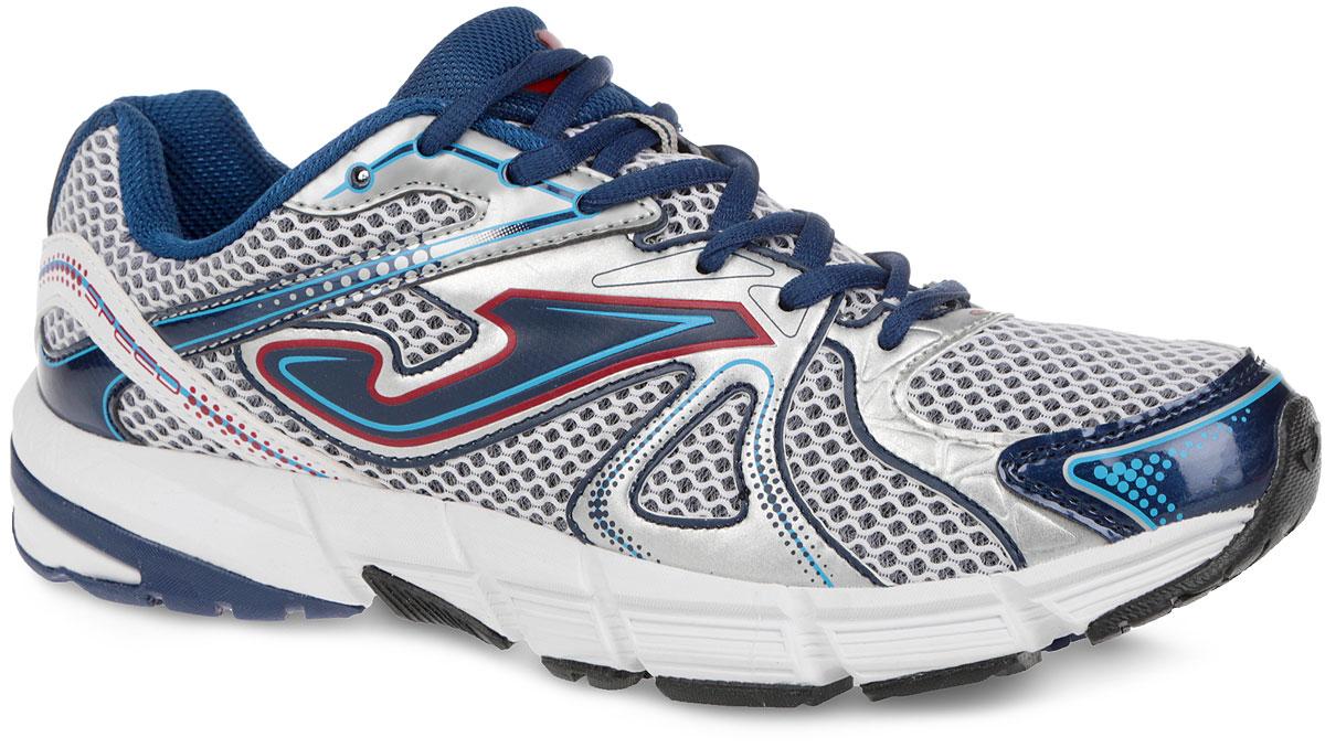 КроссовкиR.SPEEDW-404Мужские кроссовки Speed от Joma идеально подходят для умеренных спортивных нагрузок и для повседневной ходьбы. Верх выполнен сетчатого текстиля со вставками из синтетической кожи. На языке, на заднике и по бокам модель оформлена фирменным логотипом. Стелька из EVA с текстильной поверхностью обеспечивает комфорт. Шнуровка надежно фиксирует модель на ноге. Рельефный рисунок подошвы обеспечивает отличное сцепление с любыми поверхностями. Подошва с системой стабилизации Pulsor Dio обеспечивает отличную амортизацию. В таких кроссовках вашим ногам будет комфортно и уютно.
