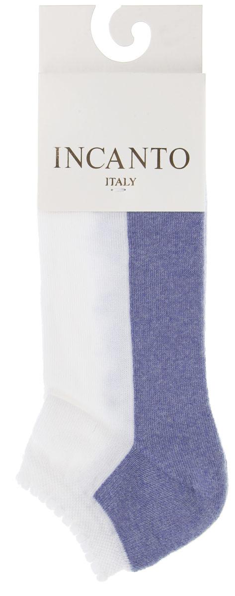 НоскиIBD731004_Bianco, AquaЖенские носки Incanto Collant с невысоким паголенком изготовлены из высококачественного сырья. По паголенку проходит кружевной узор подковки. Модель дополнена махровыми вставками. Носки очень мягкие на ощупь, а резинка плотно облегает ногу, не сдавливая ее, благодаря чему вам будет комфортно и удобно.
