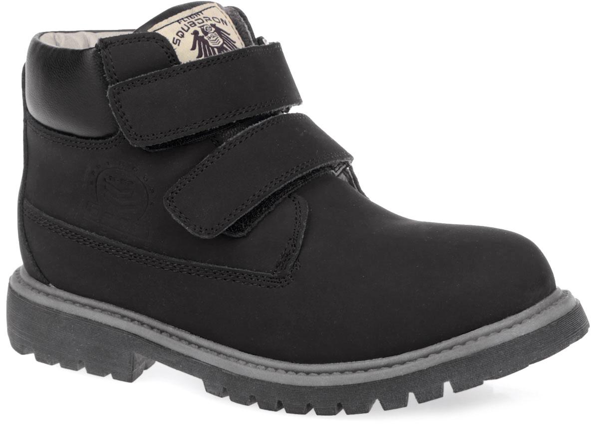 Ботинки для мальчика. DC3316DC3316Стильные ботинки от Flamingo покорят вас и вашего мальчика с первого взгляда! Модель выполнена из натурального нубука. Обувь оформлена задним наружным ремнем, вдоль ранта - декоративным швом, вдоль канта - вставкой из искусственной кожи . Ботинки застегиваются на два ремешка с липучками. Ярлычок на заднике облегчает надевание обуви. Подкладка и стелька из натуральной шерсти сохранят ноги в тепле. Каблук и подошва с протектором гарантируют идеальное сцепление на любой поверхности. Удобные и модные ботинки - необходимая вещь в гардеробе каждого ребенка.